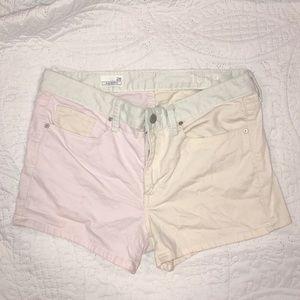 Gap pastel colorblock shorts